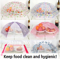 2pcs 70*70cm New Kitchen And Essential High-End Fashion Bigger Lace Folding Fruit Cover Household Health Food Cover  [500003]