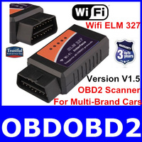 2014 Lowest Price WIFI ELM 327 Auto Dagnostic Tool Elm327 OBD2 Scanner Support All OBDII/obdii Protocols For Multi-Brand Cars