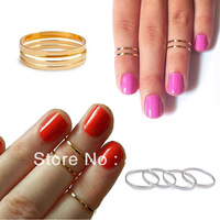 Bulk 10Pcs NEW Above Knuckle Ring Top Of Finger Ring Simple Style Gold/Silver Tone Women's Gift