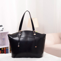 Free shipping 2013 fashion tote bags women designer handbag high quality black red massenger package