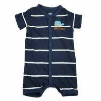 Carters baby Cotton short-sleeve jumpsuit striped boxer romper   1pcs free shipping