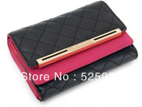 2013 hot selling fashion women's wallets brand designed leather wallet ladies high quality purses free shipping QB02