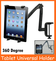 Universal Desk Holder For  iPad 2 3 4  Galaxy Tab  7 10 inch Tablet PC Stand  Support 360 Degree Rotation Holder For Tablet PC