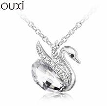 Best Quality Women Necklace Pendant Jewelry Collar Swan Bijoux Made with Swarovski Elements Crystals from Swarovski
