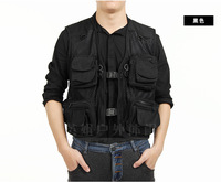 New double-layer mesh fishing vest multi pockets photography  hunting outdoor summer casual vests