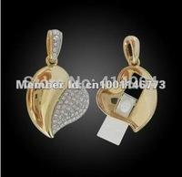 Bulk CHeap !Crystal Heart USB, wedding gift, Jewel USB flash drive, jewelry