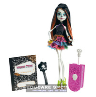 Y0376 Original Monster High Travel Scaris Skelita Calaveras Doll,Monster High dolls, hot seller girls plastic toys Best gift