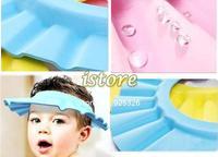 Adjustable Convenient Baby Child Kids Shampoo Bath Shower Cap Hat Wash Hair Shield SV16 4478