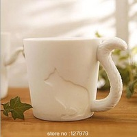 Japan and South Korea creative animal trade coffee mug ceramic mug ceramic water cup wholesale custom embossed