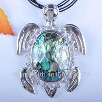 New Zealand Abalone Shell Pendant Turtle Jewelry Free shipping S559