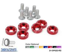 Tansky - 6PCS/LOT TK-DP02D JDM Style Fender Washers Bumper Washer Lisence Plate Bolts Kits for CIVIC ACCORD