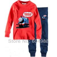 Free Shipping! baby boy new design pajamas set baby pajamas set long sleeve top+trousers printing set 6sets/lot