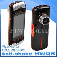 100% Original LS650W Novatek 96650 Full HD 1080P Car DVR Camera Video Recorder with Night Vision+HWDR+SOS+ G-sensor OT5