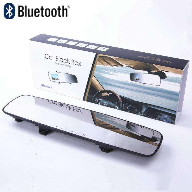 Car DVR camera back mirror camera DVR with 1080P + bluetooth + 140 degree view angle + G-sensor Novatek Car rearview mirror DVR(China (Mainland))
