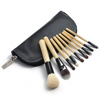 9 PCS black high quality Professional Makeup Cosmetic Brush set Kit Case H1080A Fshow