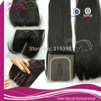 Peruvian Hair with 3 Part Closure Bleached Knots Natural Color 6A Virgin Peruvian Lace Closure Freestyle 4x4 Cheap Closure Piece