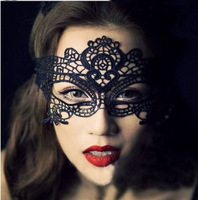 2014 Black Lady lace Upper Half Party Mask Of Sexy Cutout Halloween Masquerade Veil Club Mask Free Shipping T025