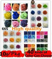 Free Shipping! Wool Felt Poke Poke Fun Wool, Roving, Fiber, Needle Felting 10g/20bag+Gift