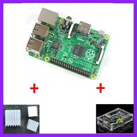 3 IN 1 Raspberry PI 3 B+ Version + 3 heat sinks + 1 board case All 5pcs/lot