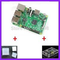 3 IN 1 Raspberry PI 3 B+ Version + 3 heat sinks + 1 board case All 5pcs/lot