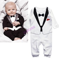 Kids Baby Infant Boys Romper Gentleman Modelling Children Long Sleeve Jumpsuit Climb Clothes Outwear/Clothes 19873