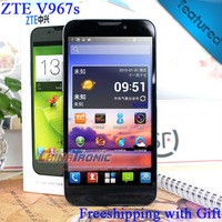"Original ZTE V967S MTK6589 Quad-core Android 4.2 Multi-language 3G Dual-SIM 5.0""QHD IPS 5.0mp Camera 1GB RAM/4GB ROM  Free Gift"