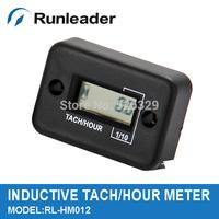 Free Shipping!Waterproof Digital Tachometer Hour Meter For All Gasoline Engine,Marine,Motorcycle,Snowmobile,ATV