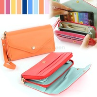 Cheapest!! 2014 new multifunction women wallets, Coin Case purse for iphone,Galaxy.case iphone 4/5 wallet. b8 SV000194