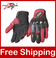 Moto Gloves Motorcycle Motorbike Motocross Gloves Pro-biker Black/Red/Blue MCS-25 Free Shipping