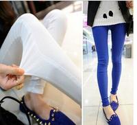 New Women Legging Women's Casual Pencil Pants Fashion Skinny Legging Pants Cotton Trousers Three Colors Blue White Black