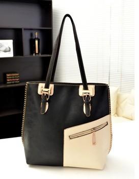 New 2014 brand designer women handbag double-handle zipper front satchel bag women messenger bags bucket tote bag bolsas