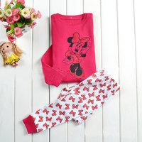 Wholesale 6 sets/lot Children Spring&Autumn Clothing,Girls Long Sleeve Cartoon Pajamas,Kids Casual Wear