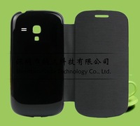 1pcs/lot High Quality Battery Housing Flip PU Leather Back Case Cover for Samsung Galaxy S3 SIII Mini i8190 8190