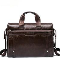 2015 Genuine Leather Handbag Men's Leather Messenger Bag Men High Quality Brand Laptop IPAD Computer Bag