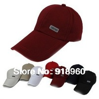 2013 New Fashion Letter baseball cap/men's & women's outdoor travel sun hat/long bongrace cap/sports army cap/6 colors Wholesale