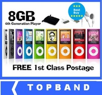 8GB Mp3 Player with Function of Mp 4 and Mp5 LCD Screen, FM Radio, Games & Movie Player