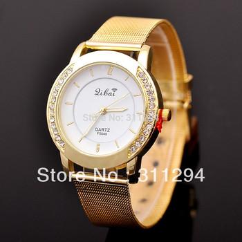 JW184 Fashion Women Rhinestone Dress Watch Full Steel Watches Gold Watch Female Top Quality Women Dress Watches .