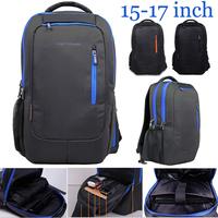 High quality 2015 New business 15-17 inch Fashion men's backpacks women Travel sport bag laptop backpack blue/black