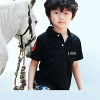 retail!2-7 years popular summer  polo brand boys 100% cotton shirt children sport top kids clothes