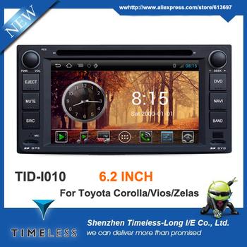 Android 4.0 OS Car DVD For Toyota Corolla Hilux Matrix Previa Vios Zelas Prado FJ Cruiser With GPS Navigation A8 Chipset 3G Wifi