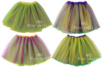 Fashion Rianbow tulle tutu petticoat pettiskirt for women Adult girl 3 layer 15.5'' length