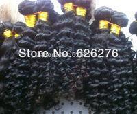 Free shipping 6A Virgin hair: 3pcs lot, Natural Black Brazilian Virgin Remy Deep Body Wave hair extension