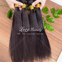 "queen hair products brazilian virgin hair human hair weave striaght bundles 3pcs/lot 6a unprocessed virgin hair 8""-30"" available"
