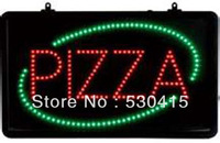 Led Pizza Sign Green and Pizza Sign, Excellent Visible In The Daylight
