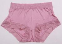 Free shipping 100% Silk panties low-waist lace women's triangle shorts panties pure silk underwear multicolor