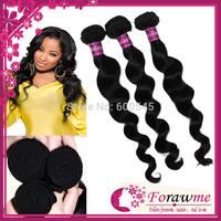 Forawme human hair weave mixed lengths 5A top quality malaysian virgin hair loose wave3 pcs lot  hair remy hair extension
