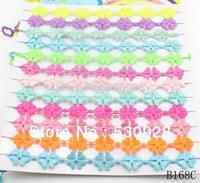Min. order $10(mix items) hot sale 2014 fashion new design macrame mix color lace bracelet for women