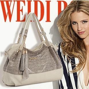 Fashion Brand WDPOLO Handbags Solid SnakeSkin Grain Designer Totes,Composite Cow leather Women's Cross-body Shoulder Bags,SJ014