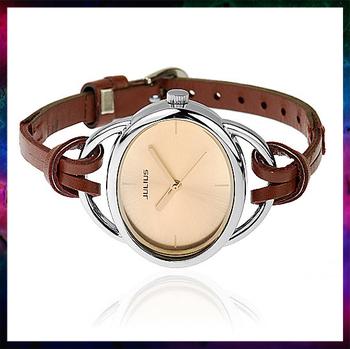 QJ-2013 fashion women dress quartz watch leather strap red coffee golden white watches women fashion free shipping