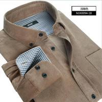 High-Quality Shirt Casual Men 2014 Business 100% Cotton Corduroy Men'S Shirts Long Sleeve Shirt 4xl Plus Size For Men 20 Colors